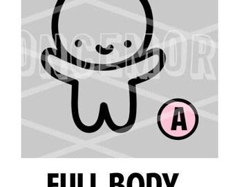 Full Body Munchkin Vinyl with NO bow - (A)