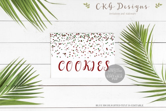 Card Christmas Place Template Party Printables