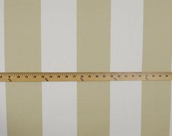 Cotillion Khaki Striped Fabric