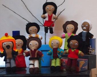 "Firefly/Serenity Inspired Felt Plush Figures 14cm (5.5"") Choose Your Crew!"