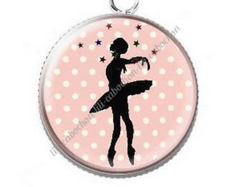 Dancer ballerina 11 resin cabochon pendant
