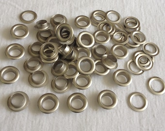 Eyelet silvered ALU lot 20 pieces with slices of 14mm x 8.5 mm x 5 mm for bags curtains leather ties