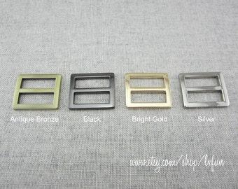1 inch Slide Metal Buckle Strap Adjuster 2pcs