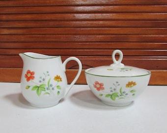 Castlecourt Fine China April Flowers Cream and Sugar