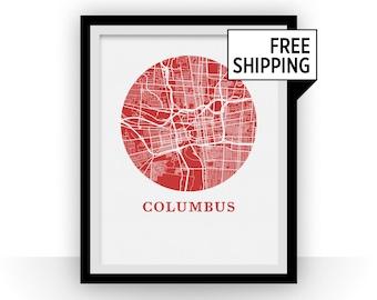 Columbus Map Print - City Map Poster