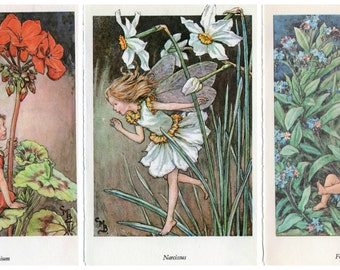 Cicely Mary Barker's Flower Fairies of the Garden original Vintage print from 1950's choose from 15 gorgeous fairies