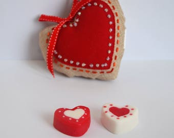 Two Hearts Soaps, Valentine Soap, Amor y Amistad Soap, Handmade Valentine Gifts, Valentine Gift, Valentine Favors,