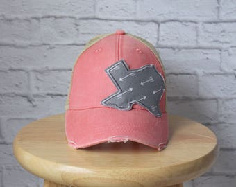 Trucker Hat in Light Pink - Ladies Trucker Hat - Monogrammed Hat - Monogrammed Ladies Hat - Trucker Hat