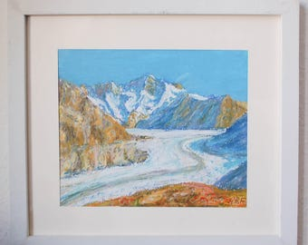 Swiss glacier Aletsch - Switzerland art