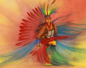 Little Dancing Indian Boy - Fine Art Print