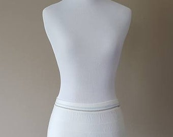 S / Undies / Soft White / Stretchy /Boy Short Style / Panties / Vintage / Small