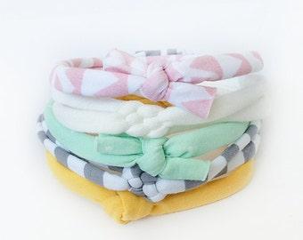 Baby Knot Headband Set, Baby Girl Headband Set, Newborn Headband