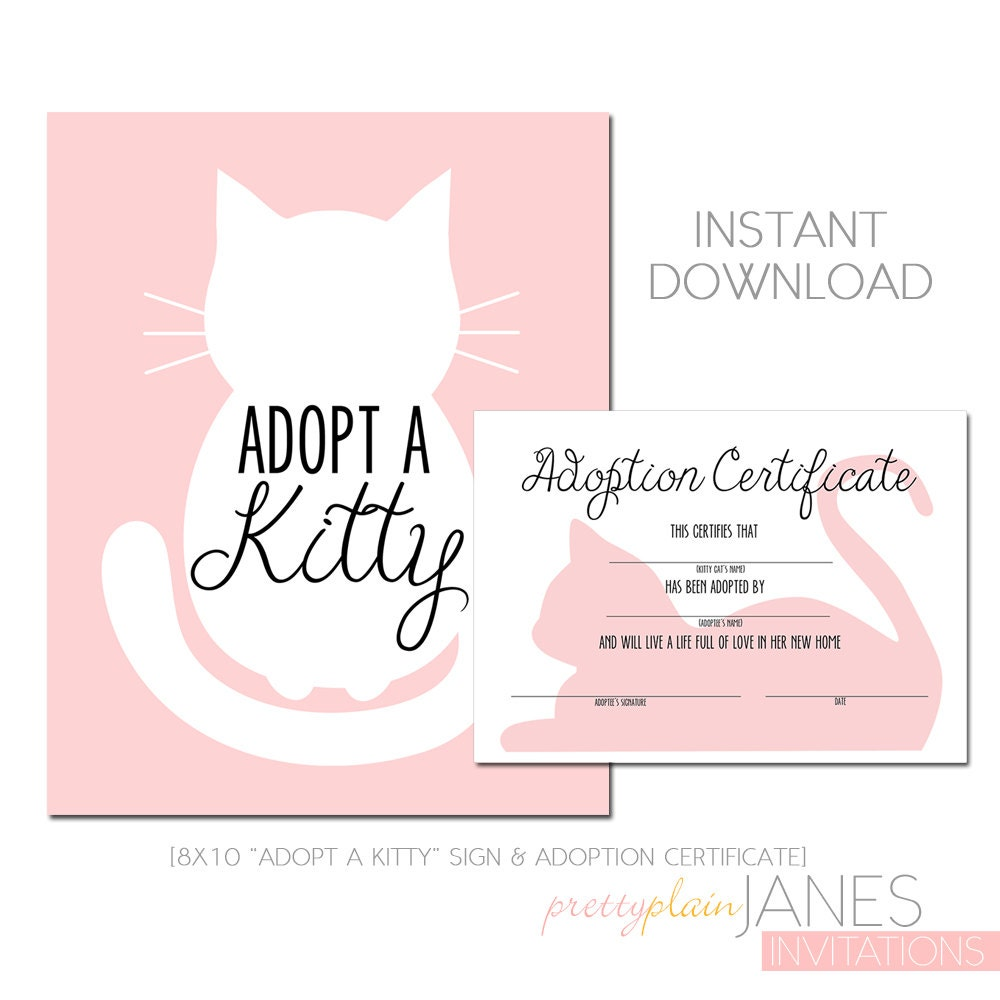 Kitty adoption kitty cat party printable kitty cat zoom yelopaper Images