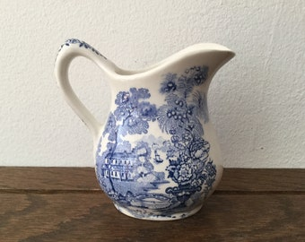 Small ROYAL CROWNFORD Ironstone Pitcher/Creamer     Made in England Transferware Creamer