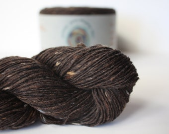 Spinning Yarns Weaving Tales - Tirchonaill 513 Chocolate 100% Merino 4ply