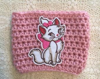 Marie Pink Crochet Cup Cozy / Aristocats / Cat