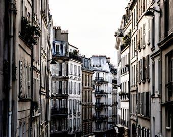 Paris Street Photography - Paris Streets - Wall Art Print - Paris Decor - Architecture - Fine Art Photography  - Streets of Montmarte - 0012