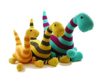 Basil the Boogie-Woogie Brontosaurus Knitting Pattern Pdf INSTANT DOWNLOAD