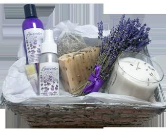 Organic Lavender Gift Basket