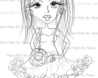 INSTANT DOWNLOAD digitale Digi Stamps Big Eye Big Head Dolls neue Fashionista My Friends img839 von Sherri Baldy