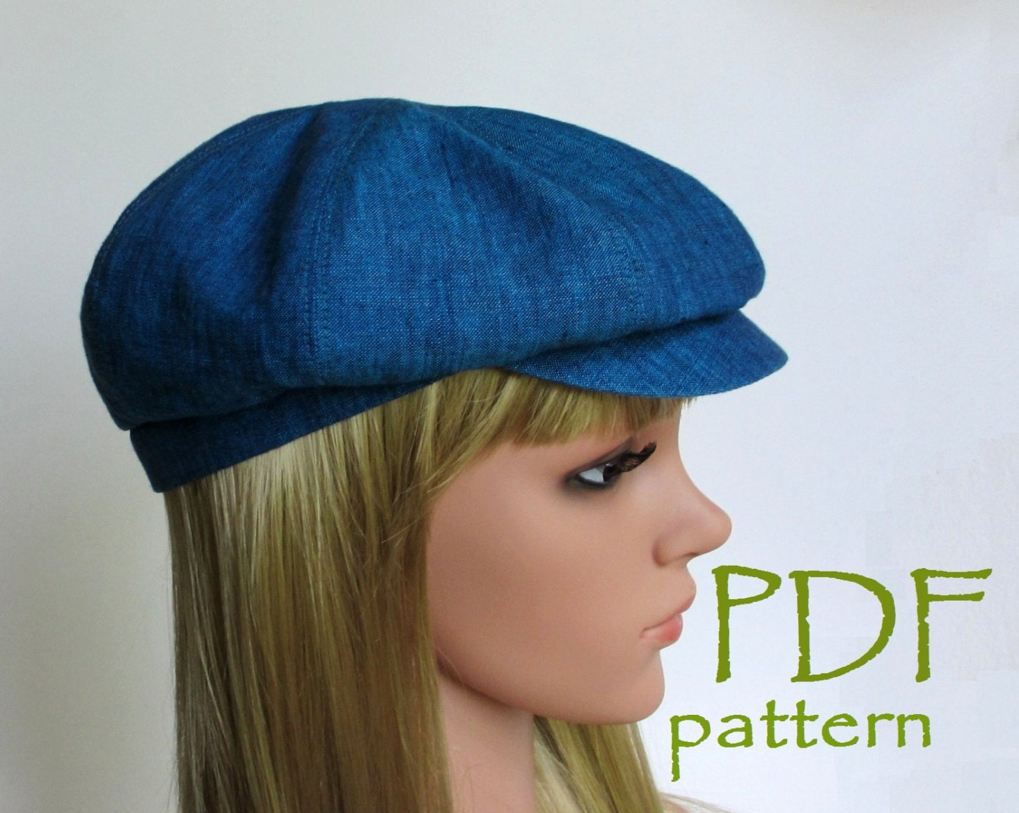 8-Panels Newsboy Hat PDF Sewing Pattern/S M L sizes/ Driving