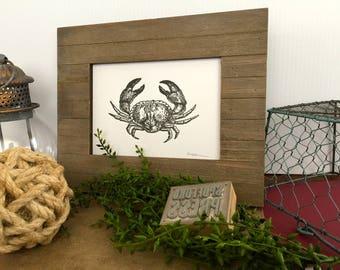 Black Crab Letterpress Print