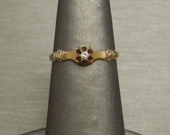 Diamond engagement ring 1800s Etsy