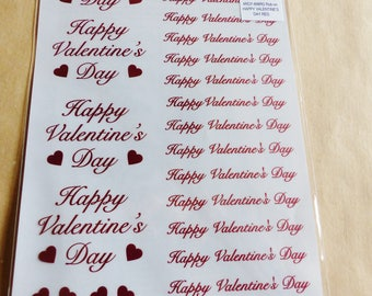 rub - on Valentine's day happy Valentine's day red love metal foil transfer scratch stick decal