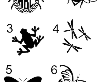 Insect Decals/Monograms