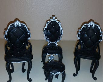 Barbie chair and ottoman set