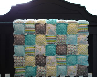 Baby Blanket Puff Quilt Play Mat