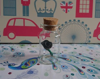 Bottled Rose: Glass Bottle Charm