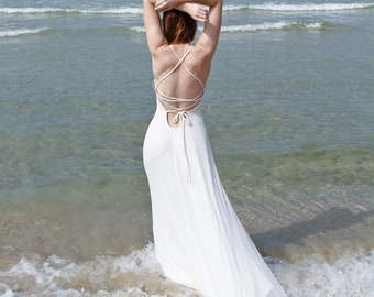 Boho Wedding Dress, Ivory Dress, Beach Wedding Dress, Bohemian Wedding Dress, Boho Bridal Dress, Rustic Wedding Dress, Boho Wedding Gown