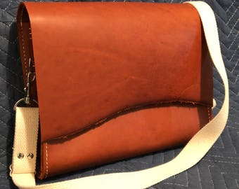 Leather messenger bag, handcrafted leather bag