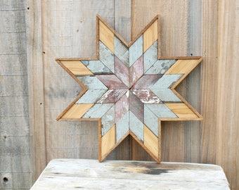 barn quilt star,  star quilt, wooden barn quilt star, salvaged barn star