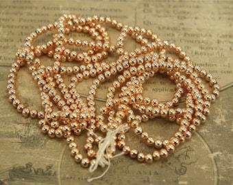 Vintage Metal and Plastic Gold Beads 4mm
