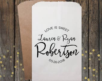 Wedding Favors Love is Sweet Wedding Favor Bags Candy Bags Wedding Favor Bag Rustic Wedding Personalized Favor Bags Candy Buffet 212
