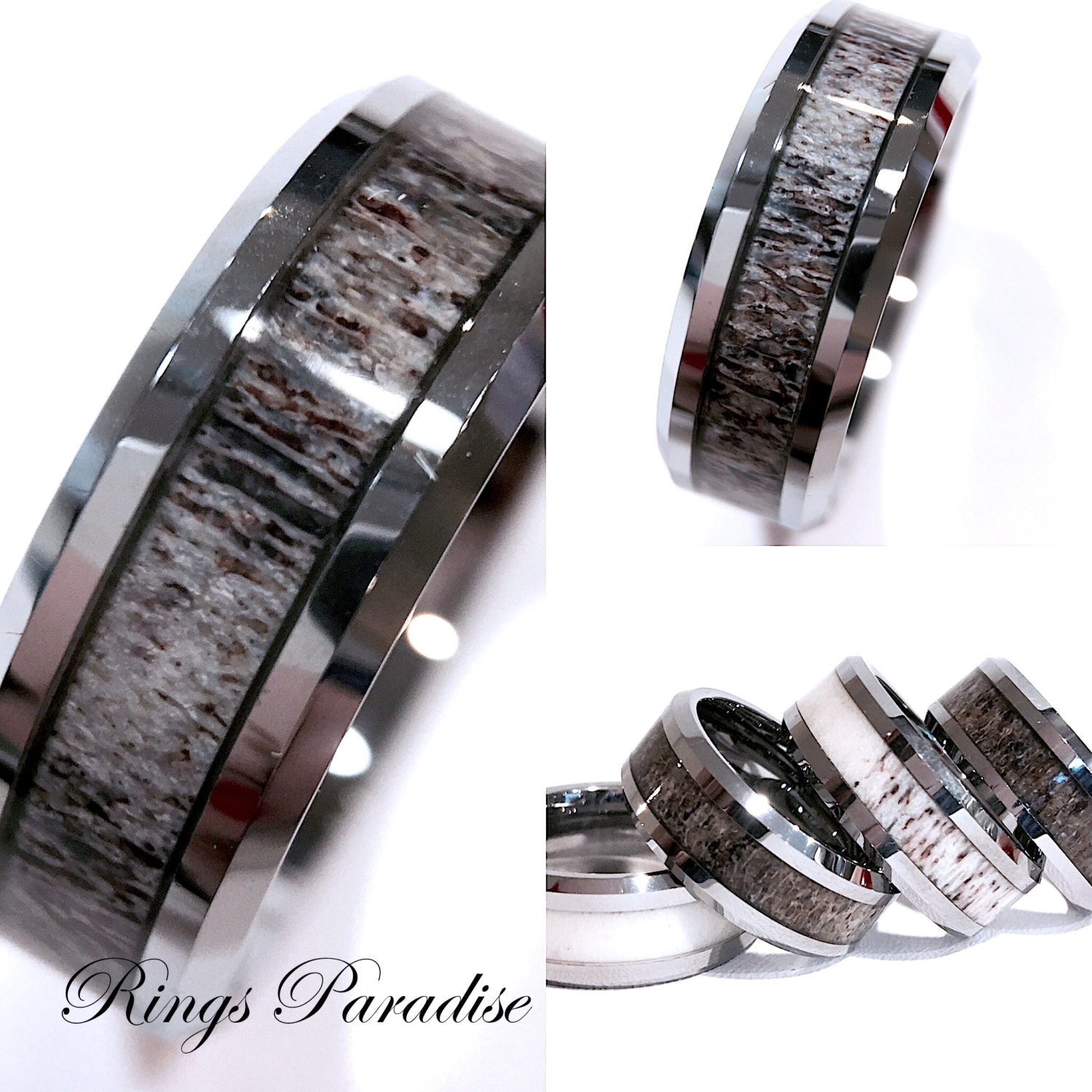 elk weddings mens wedding antler rings new