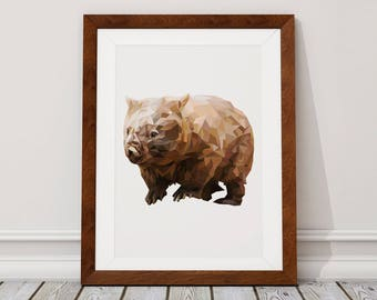 Wombat Digital Download, Wombat Digital Print, Wombat, Digital Download, Digital Print