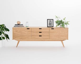 Sideboard, credenza, dresser, commode - made of oak wood