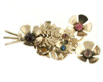 Retro Flower Bouquet Brooch