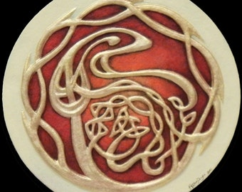 Eye of the Dragon - Cast Paper - Celtic - Tribal - Swirling - Dynamic