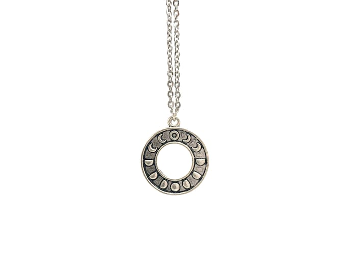 MOON PHASES: phases of the moon necklace