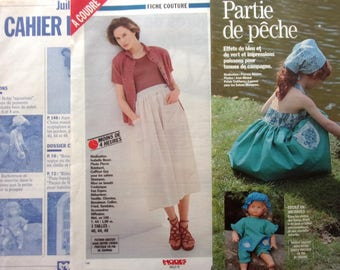 OUT July 1991 sewing pattern - SKIRT dress girl woman