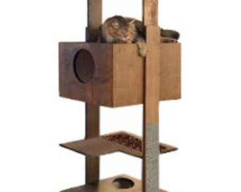 """86"""" Cat Tower with 2 Beddy Boxes"""