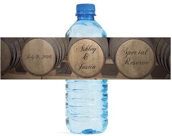 Wine Barrel Whiskey Barrel Vineyard Distellery Wedding Water Bottle Labels Great for Engagement Bridal Shower Party easy to apply and use