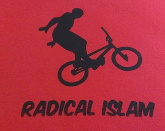 Radical Islam Bike Screen Print T-shirt in Mens or Womens Sizes S-3XL