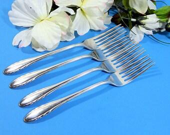 Quatre Gorham Sterling argent dîner fourchettes 1940 Lyric