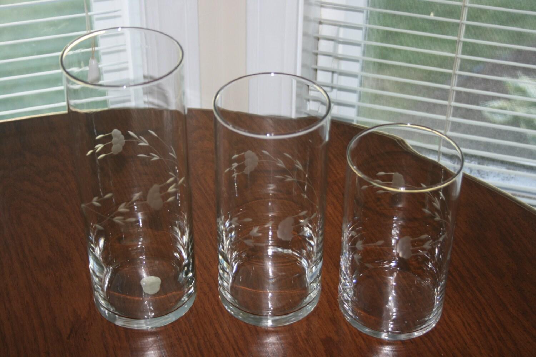Vintage princess house set of three 3 crystal cylinders vases zoom floridaeventfo Gallery