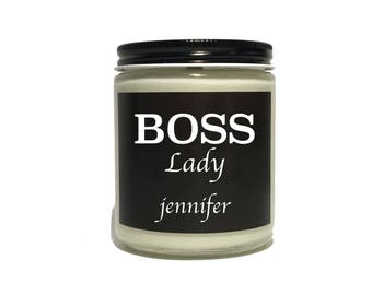 Gift for Boss Female | Business Owner Gift | Personalized Soy Candle | Gift for Boss Lady | Gift for Manager | Entrepreneur Gift |